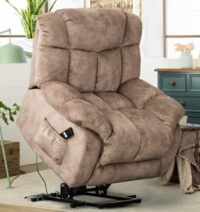 CANMOV Power Lift Big Man's Recliner Chair with Safety Motion Reclining Mechanism