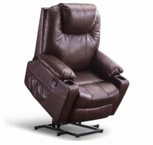 Mcombo Oversized Power Lift Recliner Chair with Pockets and Cup Holders