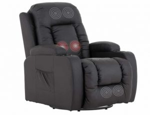 Mecor Leather Rocker Recliner with Cup Holders