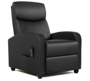 SMUG Lazy Boy Recliner Massage Padded Seat PU Leather Push Back Recliners Armchair for Living Room