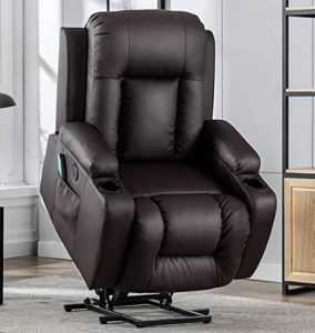 Vicluke Oversized Power Lift Recliner Chair with Massage and Heat