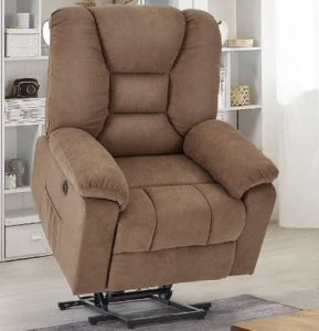 YODOLLA Larger Lift Chair for Elderly, Lazyboy Power Rising Recliner with Heat & Vibration Massage